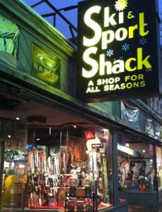 storefront of Ski and Sport Shack in Wakefield Ma